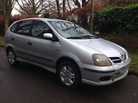 Nissan almera tino 1.8SE 1 lady owner from new 12 months mot full service history