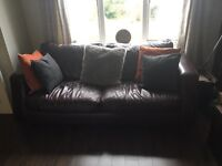 2 X 3 seater sofa and rug