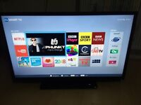 """Toshiba 40"""" smart tv with freeview and wifi built in full HD 1080p"""