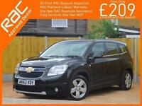 2012 Chevrolet Orlando 2.0 VCDI Turbo Diesel 163 BHP LTZ 6 Speed 7-Seater Sat Na