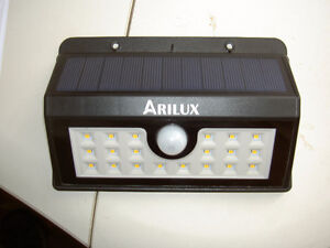 Outdoor solar motion activated lights
