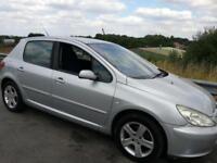 Peugeot 307 1.6HDi 110 2005 REG DIESEL ALLOYS 12 MONTHS MOT