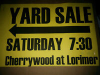 Yard Sale FONTHILL 21 Lorimer St at Cherrywood 7:30am May 30th
