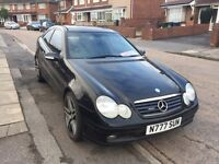 Mercedes-Benz C CLASS SPORT COUPE C230K 2001 private plate 'SUN'