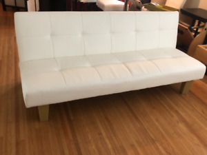 New, White Futon Sofa Bed