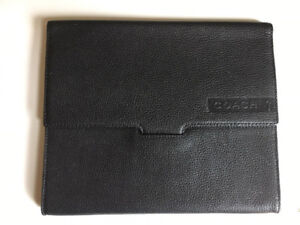 Classic Coach Pebbled Black Leather Tablet Sleeve Case