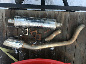 banks monster single exhaust for dodge truck with hemi