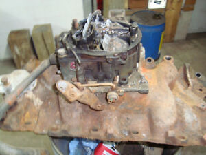 1967 chevelle 396 big block chevy bbc intake carb and aircleaner