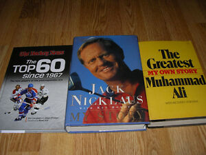 Books - Gretzky, Esposito, Beliveau, Weir, Ali, Cherry, etc. Windsor Region Ontario image 3