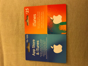 iTunes, App Store gift cards worth $55, selling for $40