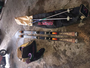 Mens ski boots size 10 plus skis