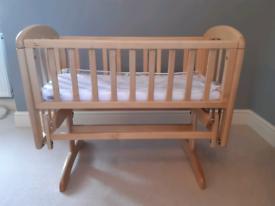 John lewis wooden swinging crib