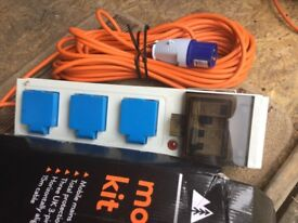 Mobile Power, electric camping hook up
