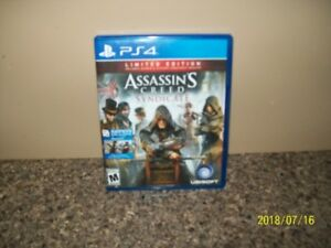 PS4 game ; Assassin Creed Syndicate  ...LIKE NEW...