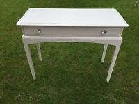 Annie Sloan original white shabby chic stag hall telephone console table dressing table
