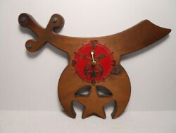 Custom Wood Design Shriners Quartz Wall Clock