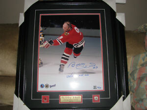 Bobby Hull autographed 16x20 with coa