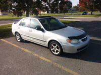 mazda protege LX 2001 manual 147 448km good condition!