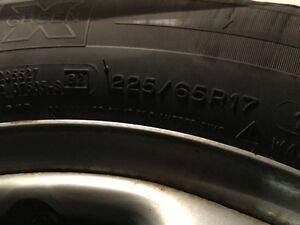 Used Winter Michelin 225 / 65R17 with rims