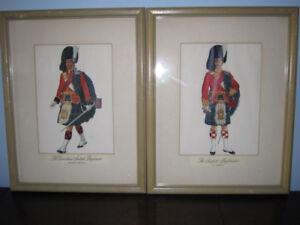 Eight Framed Canadian Scottish Regiment Prints