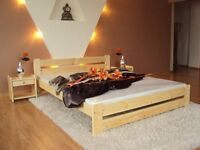 King Size Double bed frame 5FT - Natural pine colour