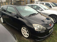 Honda Civic 2.0i-VTEC Type R 3 DOOR -2005 05-REG -FULL 12 MONTHS MOT ON PURCHASE