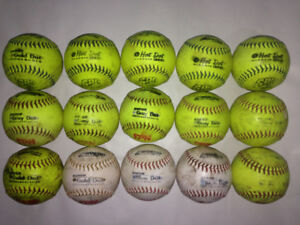 15 WORTH GRAY DOT HOT DOT GOLD DOT MIXED SOFTBALLS RETAIL $8.99!