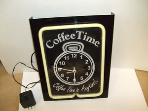 COFFEE TIME ORIGINAL NEON CLOCK Belleville Belleville Area image 1