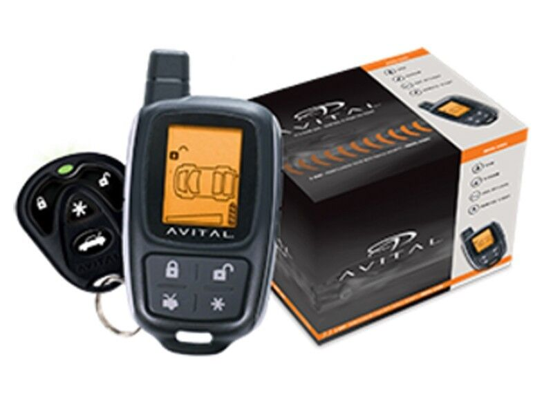 Avital 3305L 2-Way Car Alarm Security System Keyless Entry LCD Remote