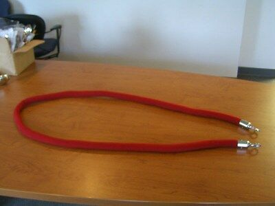 Stanchion Rope Velour Red With Pol Chrome Hks 8