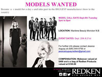 Be a model for a day with redken canada - Male's and female's