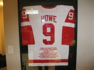 Autographed Signed Gordie Howe Statistic Jersey