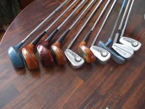10 Golf Clubs with carrying case