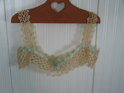c1900s Antique Vtg Victorian Edwardian Lace Yoke Camisole Top Dress Nightgown
