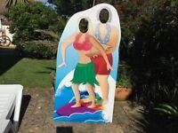 Surfing Couple Cardboard Cutout