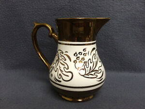 Collectible Antique Wade Heath & Co. Copper Lustre Milk Pitcher London Ontario image 1