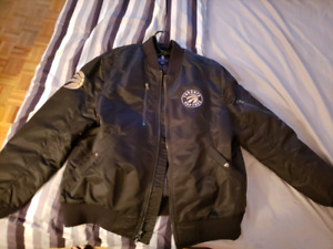 Toronto Raptors black and gold satin jacket