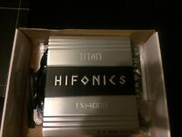 Hifonics TXi 4008 400W RMS Car Amp, Ideal For Door Speakers or Small Sub