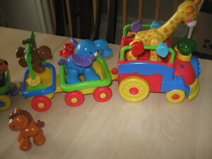 train motorisé animaux Fisher-Price 2 wagons supplémentaires
