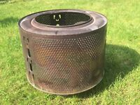 Up cycled brazier garden fire pit wok recycled washing machine drum