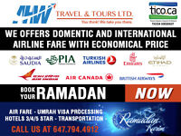 Domestic and International Airline Fare and Umrah Packages