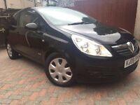 Vauxhall Corsa 1.4 Club 16V 2008 (08) Petrol Black 3 door (LOW insurance/Tax)