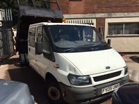 2005 Ford Transit t350 Tipper crew cab px welcome