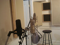 25$/hourly Recording studio for SOLO or DUO Artists