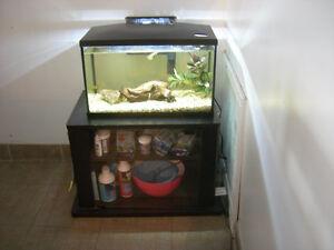 Aquarium (10 gal.), accessoires et produits (comme neuf) - FR/EN