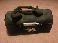 Black & Decker 12V cordless power tools in a bag