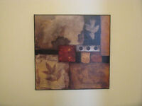 Two square abstract wall art
