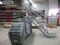 Scaffolding Stairs with Railing
