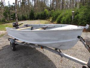 Mercury Outboard, 14 ft Aluminum boat, Trailer