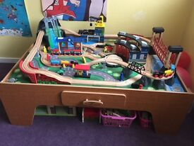 Train set and table